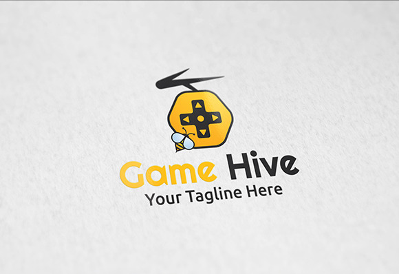 Game Hive Logo Template