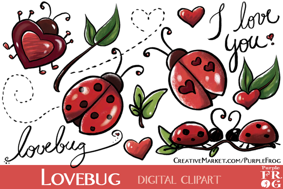 LOVEBUG Digital Clipart