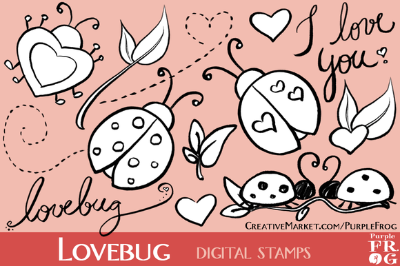 LOVEBUG Digital Stamps