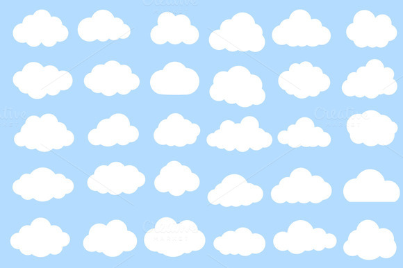 Computing Clouds Vector Pack