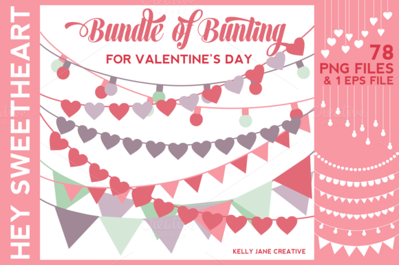 Valentine S Day Bunting On SALE