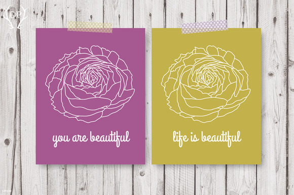 Beautiful Life Ranunculus Quote Art