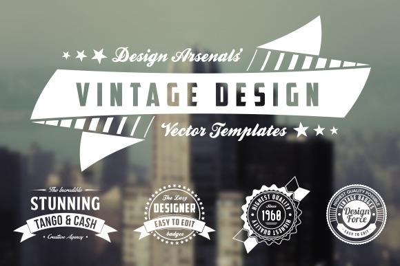 Retro Logo Badge Templates