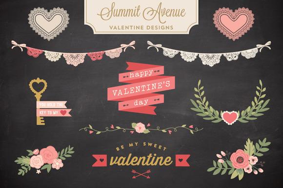 Valentine Bunting Floral Bundle