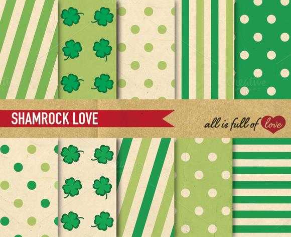 Shamrock Green Patterns