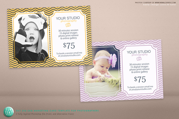 Zig-Zag Marketing 5x7 Card PSD