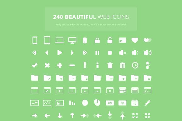 240 Web Icons