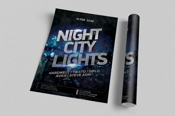 Night City Lights Flyer