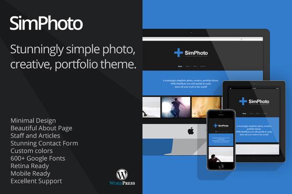 SimPhoto Impressive Minimal WP Theme