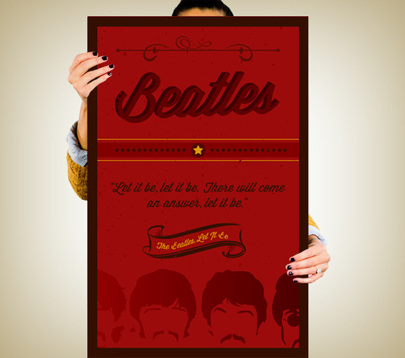Beatles Vintage Poster Design