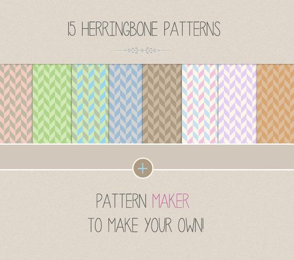 15 Herringbone Patterns Maker