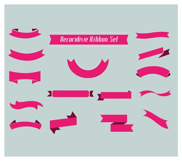 Decorative Ribbons Vector Set