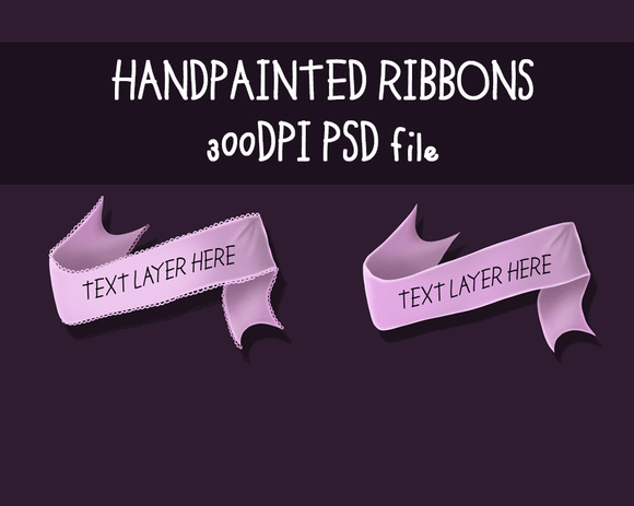 Handpainted Ribbons