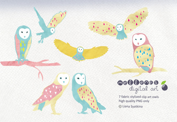Stylized Owl Clip Art Images