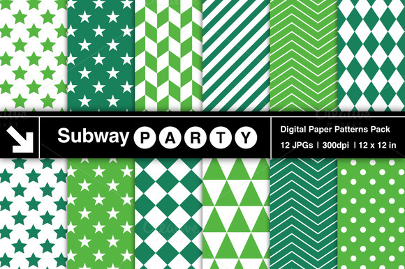 Emerald Green Geometric Patterns