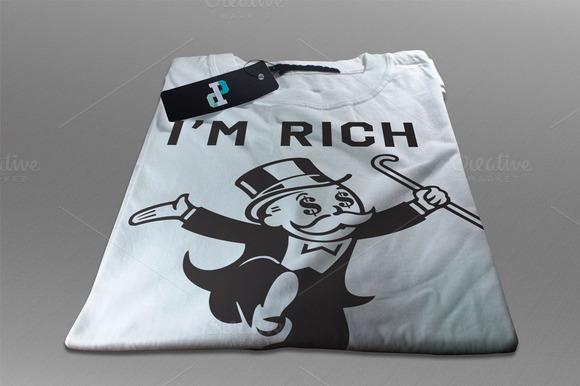 Im Rich T-shirt Design