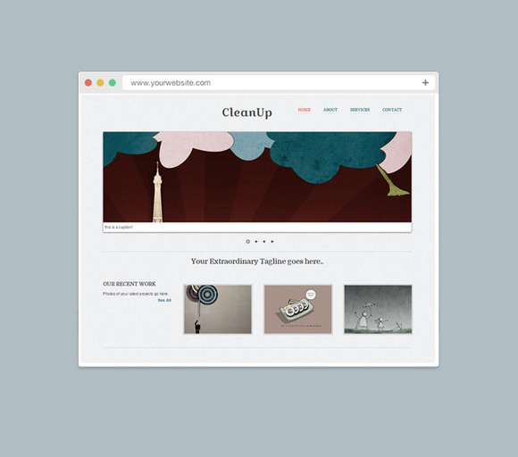Cleanup Responsive Website Template