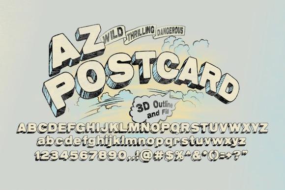 AZ Postcard 3D
