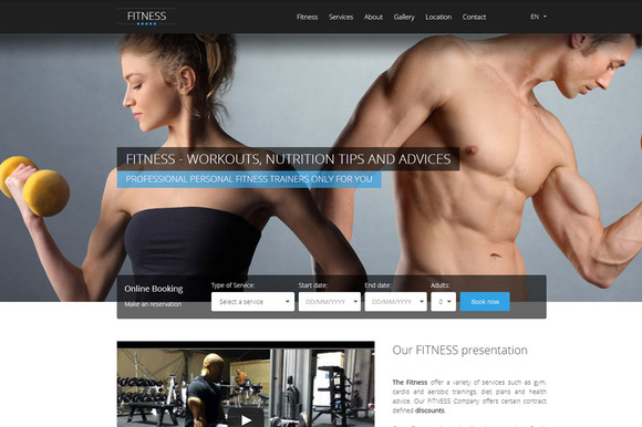 HOTFIT Hotel And Fitness Template