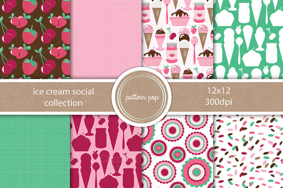 Ice Cream Social Pattern Pack