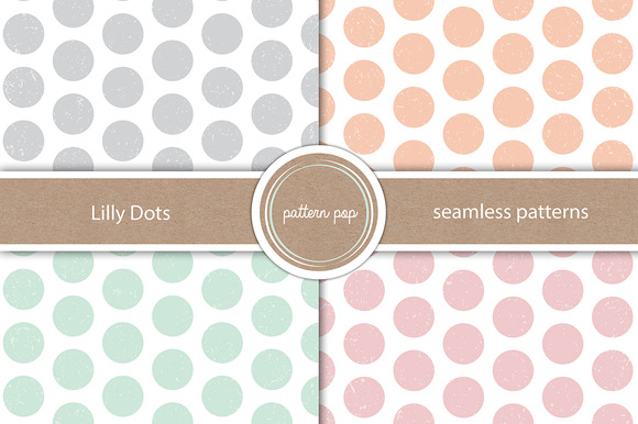 Lilly Dots Seamless Patterns