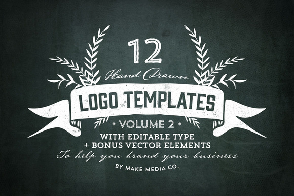 Hand Drawn Logos Elements Vol 2