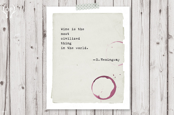 Typewriter Quote Hemingway Print Art
