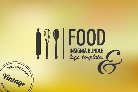Food Icons Logo Badge Insignia