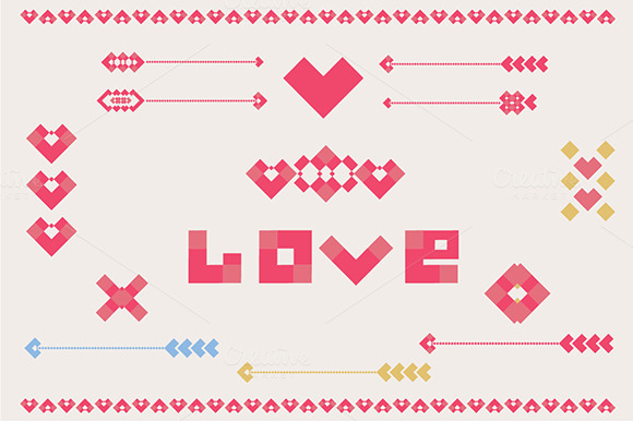 Valentine Decorative Elements