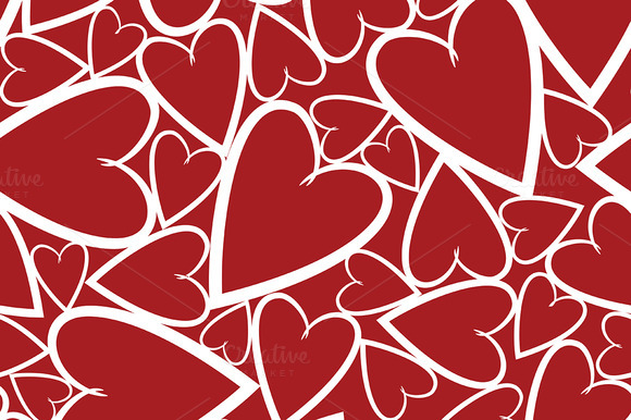 3 Seamless Patterns With Hearts