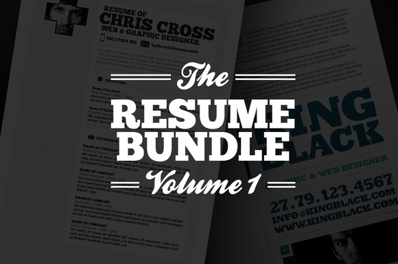 Resume Bundle Vol 1