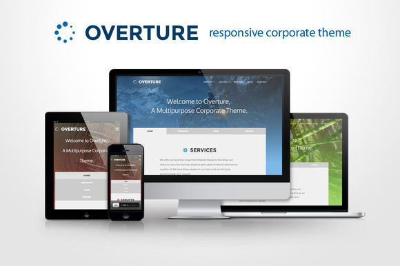 Overture Responsive Corporate Site