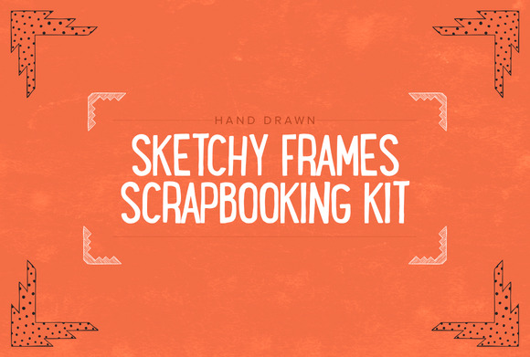 Hand Drawn Scrapbooking Kit SALE