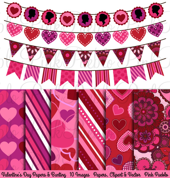 Valentine S Day Bunting And Paper
