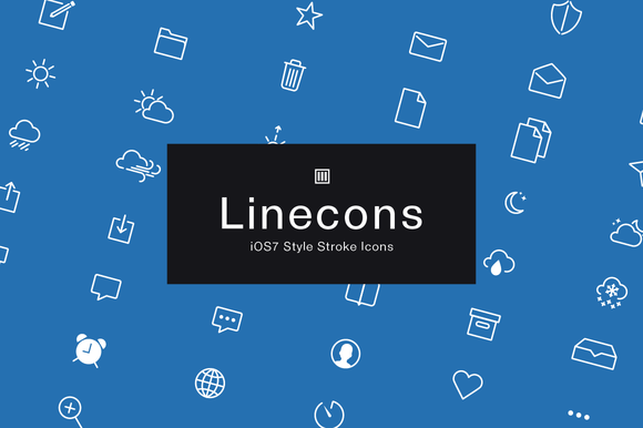 Linecons IOS7 Style Stroke Icons