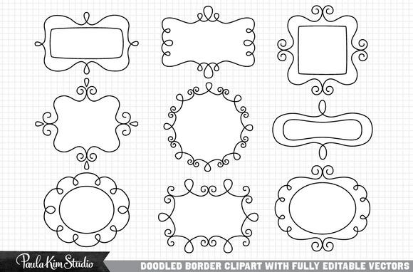 Vector Doodle Borders