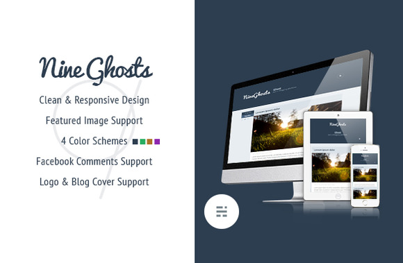 NineGhosts Responsive Ghost Theme