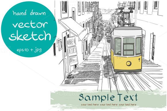 Lisbon Street Sketch