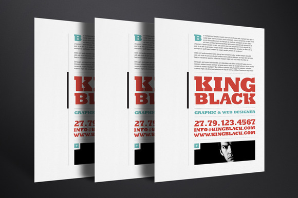 King Black Resume Template