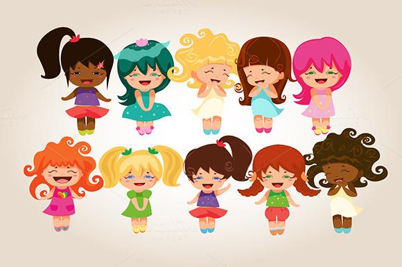 Kawaii Laughing Princesses