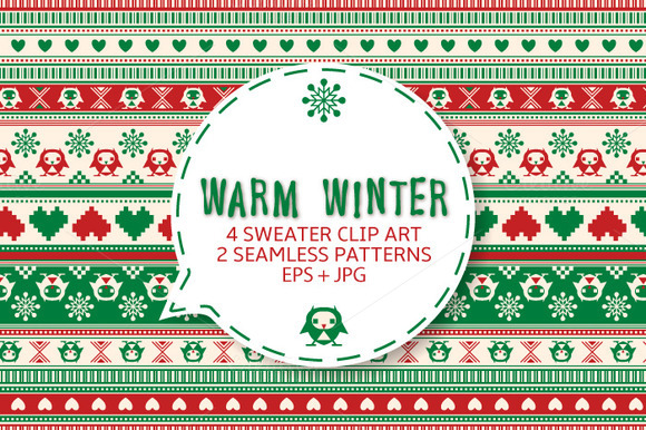Winter Sweater Seamless Ornament