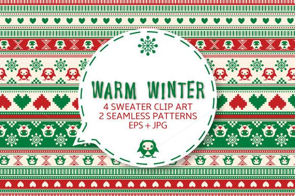 Winter Sweater Seamless Ornament