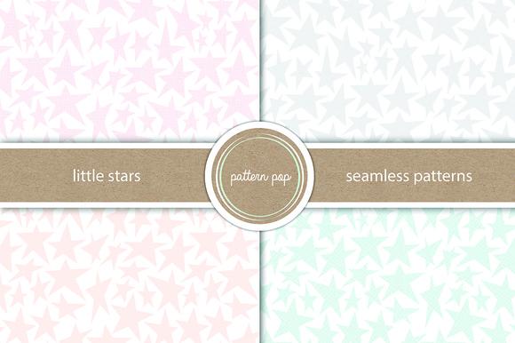 Seamless Little Stars Pattern Pack