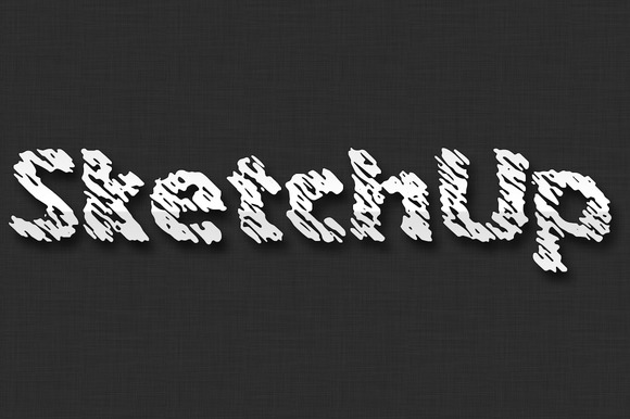 Sketchup Typeface