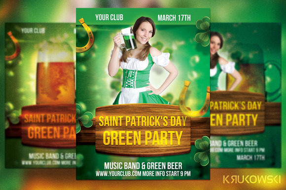 St Patrick S Day Green Party Flyer