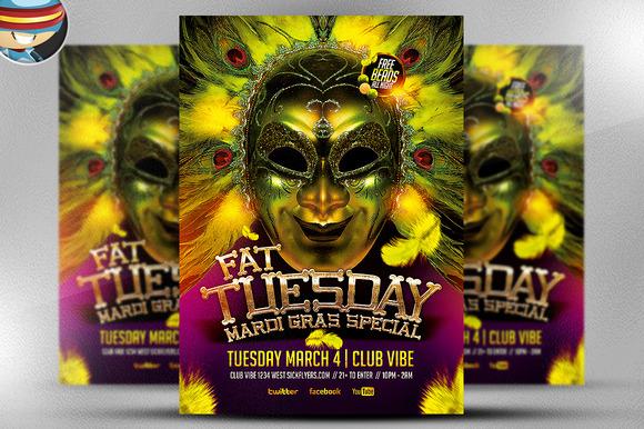 Fat Tuesday Mardi Gras PSD Flyer