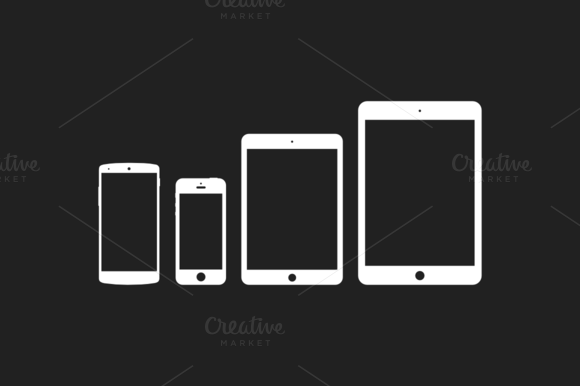 Flat Vector Mobile Devices