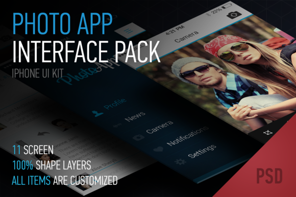 IOs7 Photo App Interface Pack