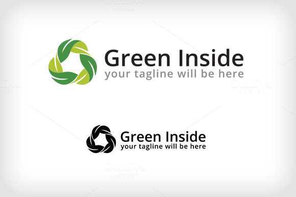 Green Inside Logo Template