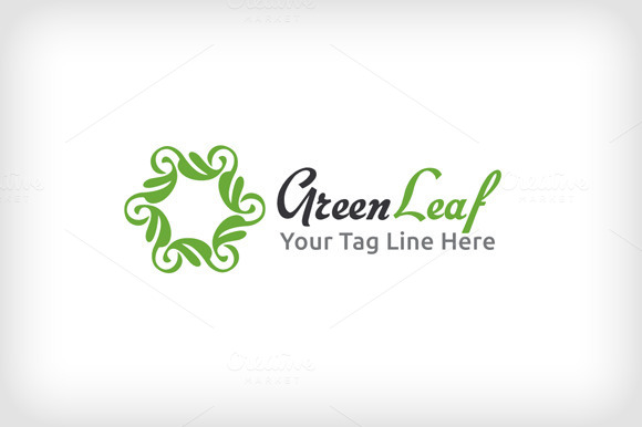 Green Leaf Logo Template